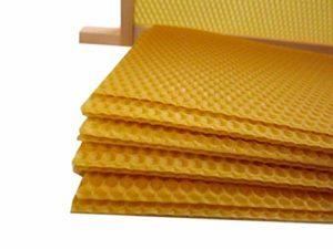 Beekeeping Supplies UK Unwired Super Foundation 10 Feuilles de Cire d'abeille 100% Cire d'abeille