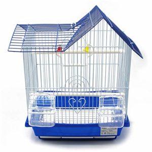 BPS Bird Cage Metal avec Feeder Drinker Swing Jumper Color Bucket Envoyer au Hasard 30 x 23 x 39 cm BPS-1164