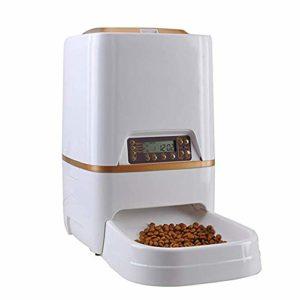 BYCWS Pet Feeder-Automatic Cat Feeder Distributeur de Nourriture pour Chien de Compagnie avec Enregistreur Vocal Programmable et ContrôLe des Portions (6L)