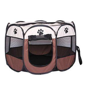 Cayuan Pet Portable Foldable Playpen pour Chiens Chats Cage Box de Transport intérieur et en Extérieur Cage Pliante et Portable Respirable