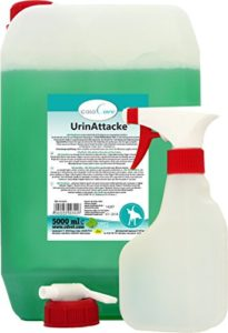 cdVet Naturprodukte – UrinAttacke / 302 – Bidon de produit anti-odeurs – Avec vaporisateur – 5000 ml