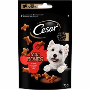 CESAR Mini-Bones – Récompenses au Bœuf et au Poulet pour Chien, 6 Sachets de 75g de Friandises