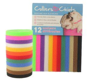 ColliersIDChiots – 12 Chiot Bandes d'identification | Fabriqué avec la Marque VELCRO® Fermetures | Taille 40 cm