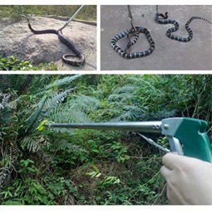 Dbtxwd Pince à serpentin rétractable en Acier Inoxydable avec Attrape-Serpents rétractable Outil de Remise Reptiles Attrape-Pince Grabber Serrure,NotFolding120cm