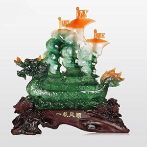 Décoration de Yifan Fengshun Dragon Cérémonie d'ouverture de la Décoration de Table de Bureau (Couleur : A, Taille : 56*24*60cm)