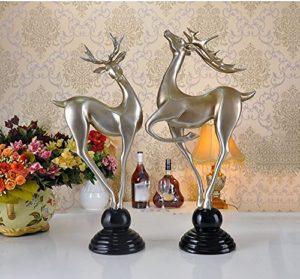 Desktop Decoration Résine Ornements Animaux Salon Meubles de Bureau Couple cerf Cadeaux de Mariage (Style : D)