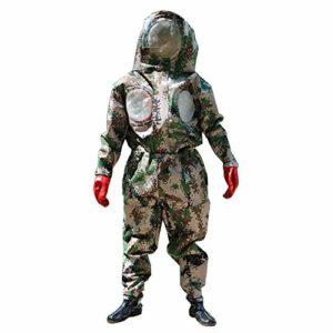 DJLOOKK Costume Apiculture Costume Anti-guêpe avec Masque, Bottes et Gants avec Costume d'éveil en éventail spécialisé dans la défense de guêpe,L