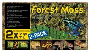 Exo terra Set de 2 Substrats Mousse de Forêt pour Reptile/Amphibien 7 L