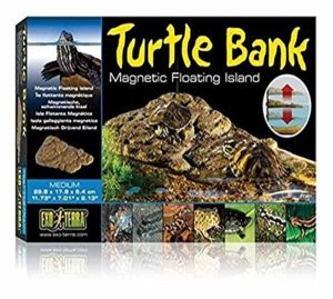 Exoterra Plage Mobile Turtle Bank avec Aimants pour Reptiles et Amphibiens Moyen Modèle 30x18x5 cm