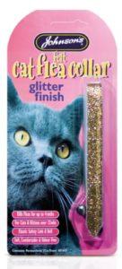 Finition Johnson's Collier antipuces pour chat à paillettes 50g–Bulk Deal de 12x