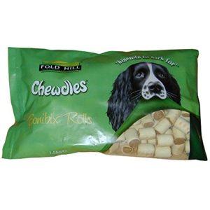 Foldhill Chewdles Bonibix Marrowbone Rolls Dog Treats 1.5kg