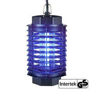 Gardigo – Destructeur Insectes Electrique; Pièges à Insectes; Lampe UV Anti-mites, Moustiques, Mouches et Moucherons; 4 Watt; Testé SGS GS