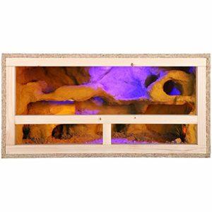 Grand vivarium/terrarium en bois d'intérieur pour reptile, enchâssable pour la ventilation des serpents et lézards, 16, 16