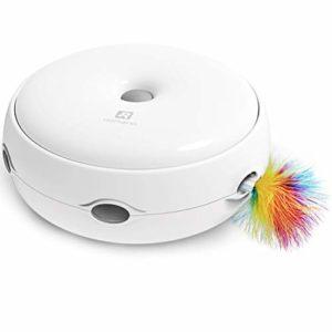 HAJZF Jouet pour Chat électrique Smart Taquiner Chat Bâton Crazy Game Spinning Platine Chat Donut Automatique Platine Chat Jouet