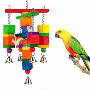 Handfly Noeuds Block Bird Toys Mâcher Jouets pour Animal Domestique Oiseau Perroquet Perruche Perruche Amazones Calopsittes inséparables Finch Gris du Gabon cacatoès Amazon Cage