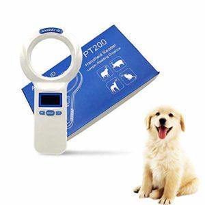 Haolv Lecteur De Carte De Poche Lecteur De Code À Barres ID 1D FDX-B Scanner À Tube D'étiquette en Verre Identification des Animaux Domestiques