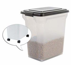 Iris Ohyama Boîte à croquettes / boîte alimentaire hermétique – Air Tight Food Container – ATS-L, plastique, transparent, 45 L, 15 kg, 46 x 33,5 x 50 cm