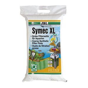 JBL Symec XL Ouate filtrante 250 g verte, Ouate filtrante grossière pour filtre d'aquarium contre toutes les turbidités de l'eau