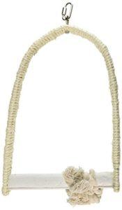 Karlie 88652 Balançoire en corde de sisal avec perchoir en calcaire, taille L 21 x 30 x 4 cm