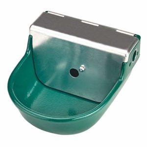 Kerbl SN190 Abreuvoir flottant basse pression Métal avec revêtement vert réparti par pulvérisation Capacité 2 l