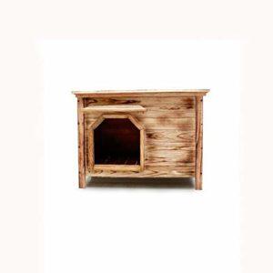 Lijin light Moyen Pas de Porte Pas de fenêtre à l'extérieur intérieur Plat Haute Charbon de Bois Maison en Bois Gecko nid Chat litière litière pour Chat