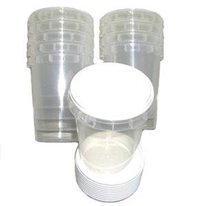 Lot de 100pots à miel en plastique durable 500g
