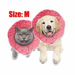 MEISO Collier de récupération sans Stress pour Animal Domestique – Résistant aux Rayures – Facile à Nettoyer et à Nettoyer – avec Sangles réglables pour Chiens et Chats
