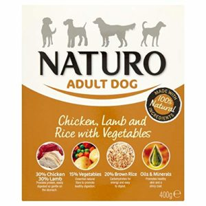 Naturo Nourriture Humide pour chiens poulet avec agneau et riz