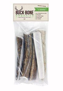 Os à mâcher bois de cerf, bio ~ Sac 450 g, sans odeur désagréable, sans gluten, ingrédient naturel et sain: wapiti du Montana, fabriquée aux États-Unis
