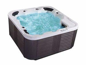 Outdoor WHIRLPOOL Hot Tub » Venedig » couleur blanc avec 44 massage BUSES + Chauffage + Ozone désinfection + éclairage LED für 5 – 6 personnes pour pour jardin/TERRASSE/extérieur