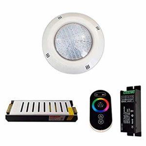 Pack 6 Projecteurs 4 fils RGB Piscine 35W 2.650 lumens + Télécommande + Alimentation de sécurité (6 projecteurs)