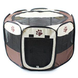 Parc de jeu en tissu pliable pour animal domestique Chiot Chat Lapin Cochon d'Inde Parc Cage Niche Tente, Petit, Grand