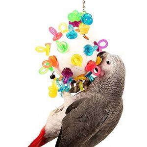 Parrot Essentials Super Binkies Pendaison Wiffle Balle pour Perroquets Jouet Taille Grande
