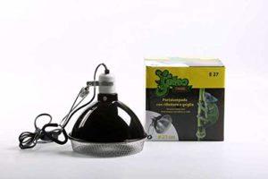 Pet Tribe PT47031 Gekotribe Porte-Lampe avec réflecteur et Protection, Grille