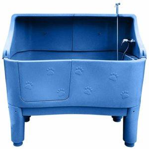 Phoenix Baignoire PVC avec Paroi au Pied pour Chien Bleue 148 x 80
