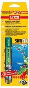SERA Chauffage à règles 50 W (pour 50 l) avec verre à quartz résistant aux chocs et protection de sécurité