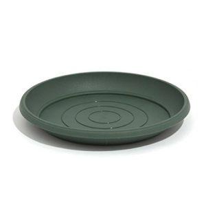 Soucoupe, plateau, support Terra vert 14 cm, en plastique