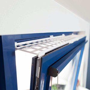 Trixie Grille de protection pour fenêtre Blanc, haut/bas, extensible 75–125× 16cm