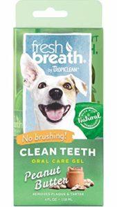 TropiClean Fresh Breath Gel de Soins Dentaires/Bucco-Dentaires sans Brossage à Saveur de Beurre d'Arachide pour Chiens 118 ML 1 Unité