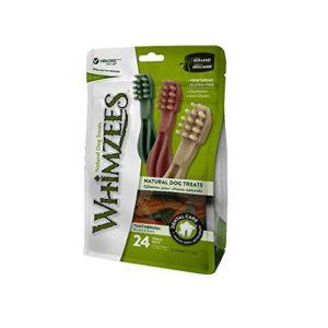 Whimzees – Friandise pour chien – Brosse à dents – Etoile – Medium – 24 pièces