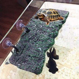 Willdo Turtle Platform, PU Foam Aquarium Float Decoration Bask Terrace Climb Brazilian Tortoise