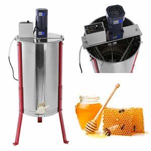 Zerone Extracteur de Miel, 3 Cadre Extracteur de Miel Electrique en Acier Inoxydable Séparateur Miel et Ruches pour Apiculture