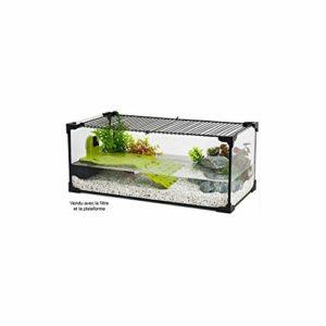 Zolux Aquarium Tortue-AQUATERRARIUM pour Tortue d'eau 60 CM