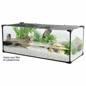 Zolux Aquarium Tortue-AQUATERRARIUM pour Tortue d'eau 80 CM