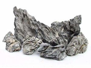 5kg Gris Montagne Roche Pierre Aquarium Iwagumi Style Lot de pierres d'aquarium