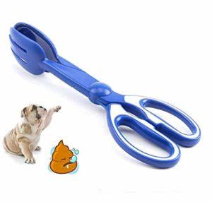 ADDG Chien Toilettes Pick-Up Toilette Out Clip Portable feu tenailles Cut Pet Nettoyage Fèces,Bleu