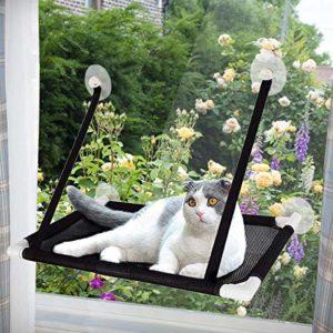 Afufu Hamac de Fenêtre pour Chat, Ventouse Siège Étagères pour Chat,Perchoir Chat Fenêtre de Seat Ensoleillé,Capacité de Charge 10kg, 60 * 35cm