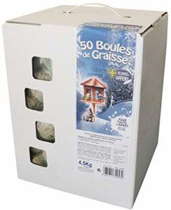 AIME Carton de 50 Boules de Graisse pour Oiseaux du Ciel / Animal Sauvage