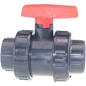 AK PVC Robinet à boisseau sphérique Manchons à coller (25jusqu'à 90mm) 50 mm PVC