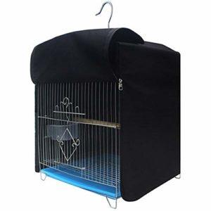 Anjing Housse de Protection pour Cage à Oiseaux en Polyester Durable imperméable avec Double Fermeture Éclair Noir